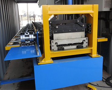 Tab 2-3-fixed insider of container of Standing Seam Roof Machines