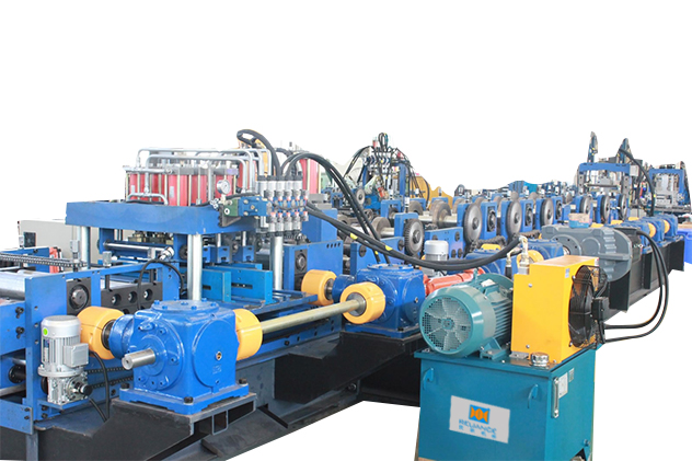 Tab 2-4 leveling & hydraulic punching for CZ purlin roll forming machine
